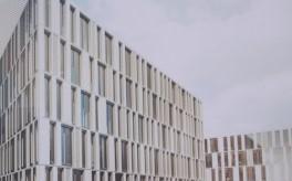 Neubau der ILB mit Einheitsfassade