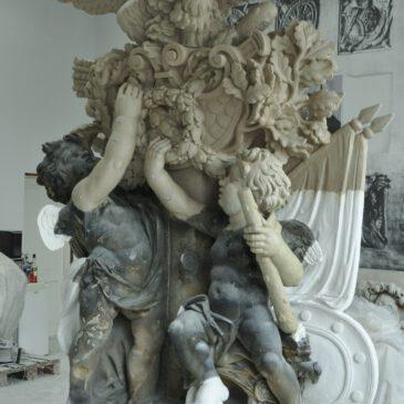 Potsdamer Stadtschloss: Absage des Aufsetzen der Adlergruppe und Attikafiguren
