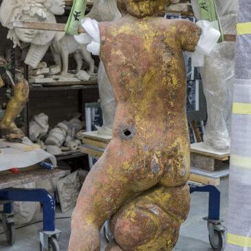 Erste Skulpturenmodelle der Potsdamer Fahnentreppe vorgestellt.
